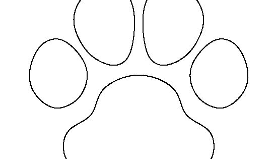 Bulldog paw print pattern Use the printable outline for