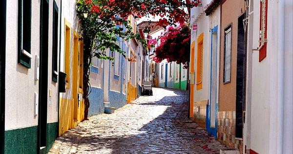 Ferragudo old streets Algarve Portugal