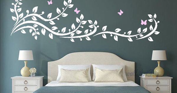 Arbre mural stickers arbre branche stickers arbre mur for Pochoir arbre