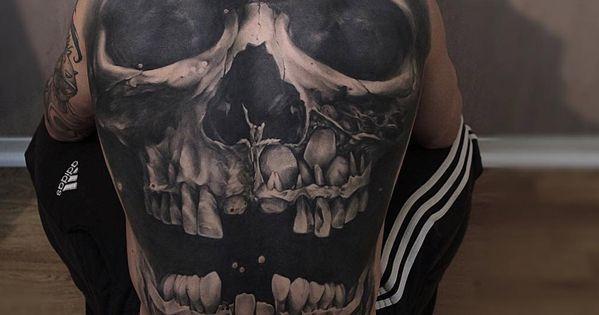 Pin By Jens Meurer On Tattoo: Skull Back By Jens Olsson. Http://tattooideas247.com/skull