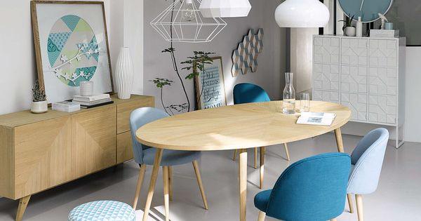 table de salle manger en origami maison du monde chaise mauricette d co pinterest. Black Bedroom Furniture Sets. Home Design Ideas