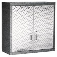 Mastercraft Metal Wall Cabinet Is Ideal For Garage Basement Storage Room Features Two Adjustable Shelves Wall Cabinet Metal Garage Cabinets Metal Walls