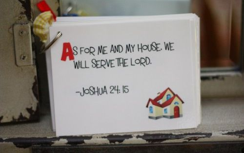 ABC printable Scripture Memory cards for Kids. I LOVE this, it goes