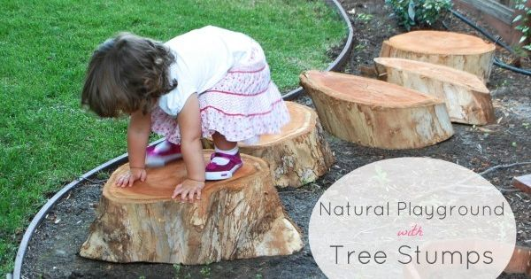 Home Playground Ideas | Build a Natural Playground with Tree Stumps, from
