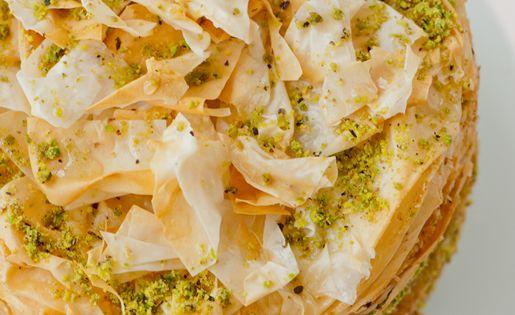Pistachio Baklava Cake ~ Baklava, the Greek, Turkish, Lebanese rich, sweet pastry