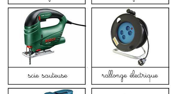 Outils bricolage4 montessori carte de nomenclature for Nomenclature icpe garage automobile