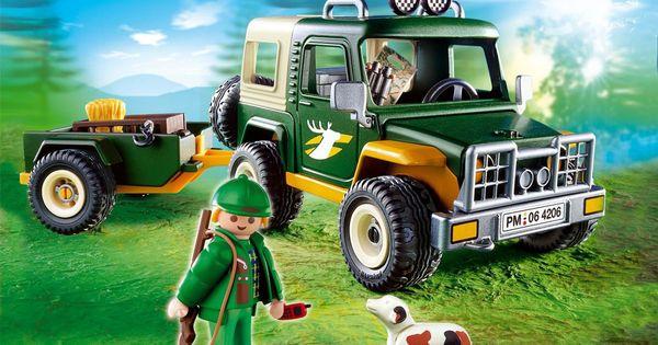 forestier avec 4x4 et remorque playmobil 4206 city playmobil for sale pinterest. Black Bedroom Furniture Sets. Home Design Ideas