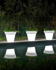 Glow In The Dark Flower Pots Outdoor Backyard Front Yard