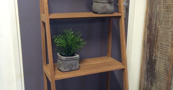 Teak trap mooie kwaliteit en stevig als boekenkast badkamerkast of als decoratie een - Home decoratie interieur trap ...
