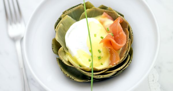 Steamed Artichokes With Poached Eggs And Smoked Salmon Recipes ...