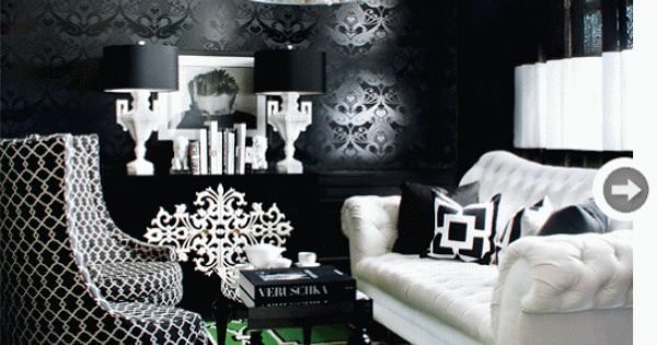 Simple Everyday Glamour Hollywood Glam Blacks Whites And A Splash Of Green With A Sliver Of
