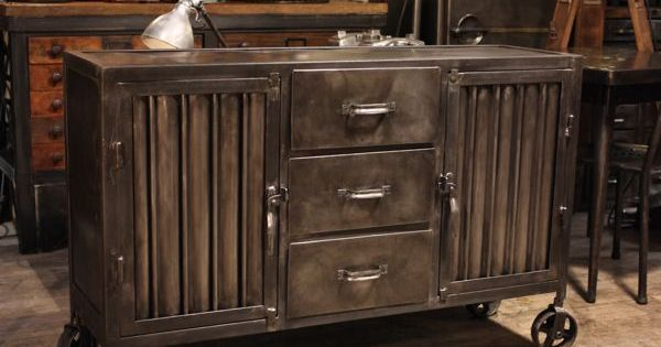 Meuble industriel ancien deco loft vintage industrial pinterest more industrial - Meuble industriel loft ...