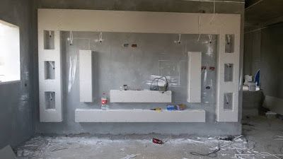 Home Decor Handmade Gypsum Board Tv Units Before And After Tv Wall Decor Tv Wall Design Tv Room Design