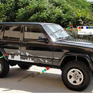 2x Decal Sticker Compatible With Jeep Cherokee 0 0 Jeep Cherokee