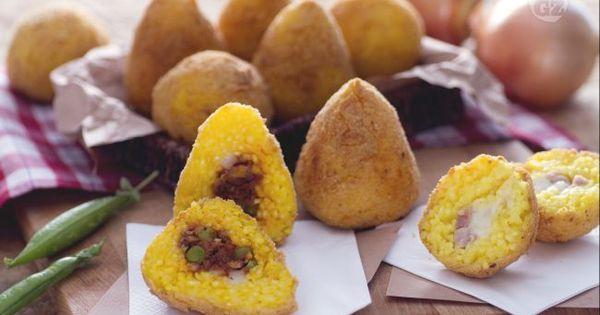 Gli Arancini Di Riso Vanto Della Cucina Siciliana Sono Piccoli Timballi Di Riso Simile Ad