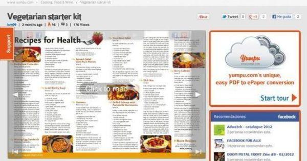 Yumpu Convierte Un Pdf En Una Revista Digital Y Compártela En La Red Dmat U Social Media Vegetarian Starters Starter Kit
