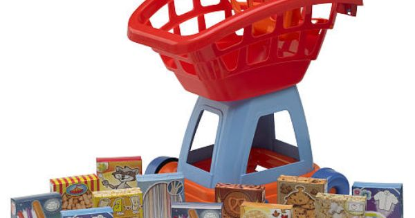 Toys R Us Food : Just like home piece deluxe shopping cart with food