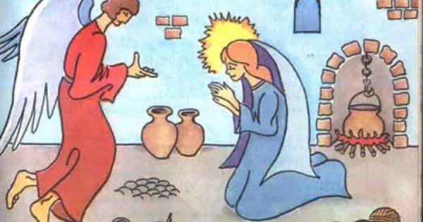 La Anunciacion Angel Gabriel Y Maria Disney Characters Character Fictional Characters