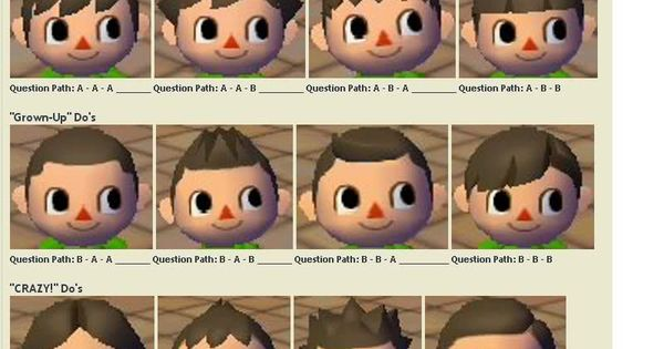 Shampoodle Hair Guide Animal Crossing City Folk