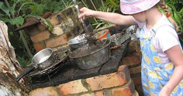 Let The Children Play Mud Pie Kitchens Pots Kettles Pans Pie Plates Colanders Buckets