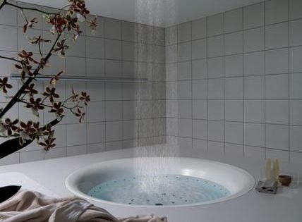 Rain shower bathtub.Oh this would be in my dream house, with a