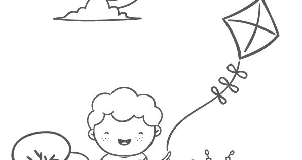 Coloriage cerf-volant   Plays and Child