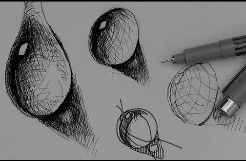 how to digitally draw water droplets