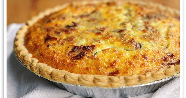 Christmas breakfast recipes: Brie and Bacon Quiche - Bacon Recipes
