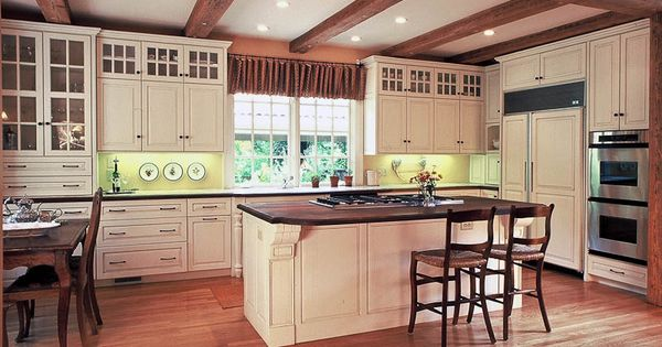 An Atlanta European Classic Painted Cream Kitchen