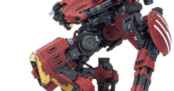 Big battlesuit v2 - xv202 mako  Warhammer 40k Tau miniatures