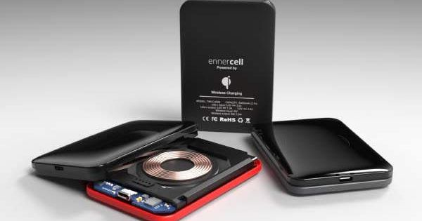 Ennercell Cable Free Portable Waterproof Power Bank Gadgetsin Powerbank Battery Pack Fast Charging