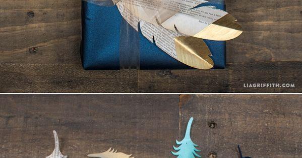 Papierfedern zur Geschenk-Verpackungs-Aufwertung! ♥