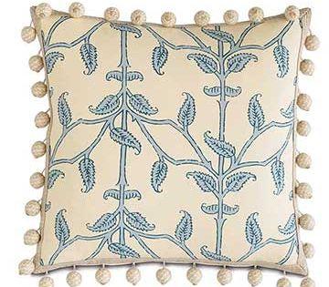 Eastern Accents Badu Beanstick With Ball Trim Ball Trim Throw Pillows Decorative Pillows