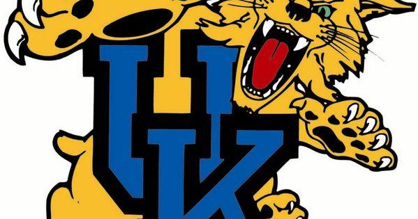 Uk Basketball Clip Art: Kentucky Wildcat Logo Clipart