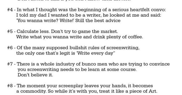 brian koppelman screenwriting advice columnists