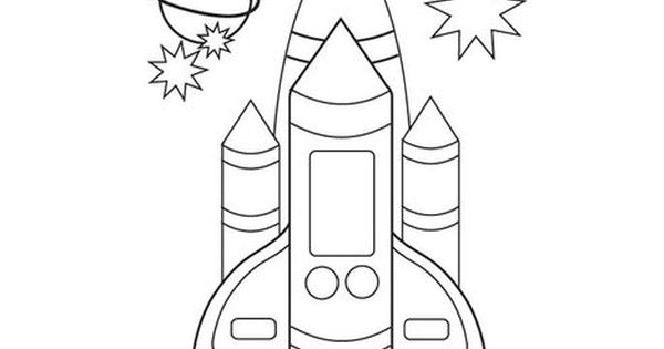 Space Shuttle Coloring Page For The Story Exploring Space