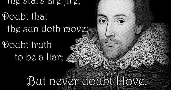 William Shakespeare Hamlet Quote T Shirt DOUBT Thou The