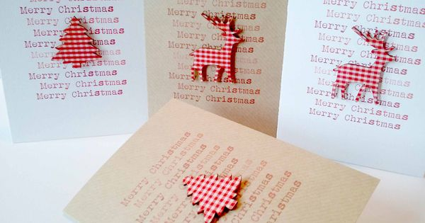 Set of 4 Handmade Christmas Cards. £8.00, via Etsy.