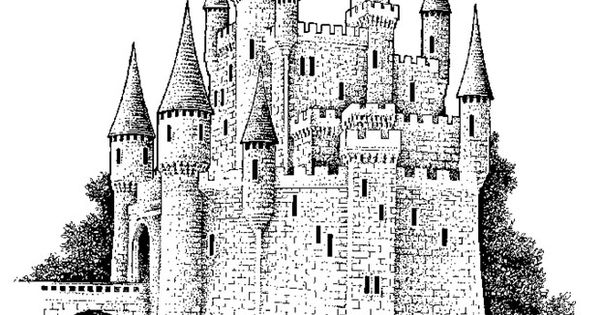 big castle Colouring Pages Coloring