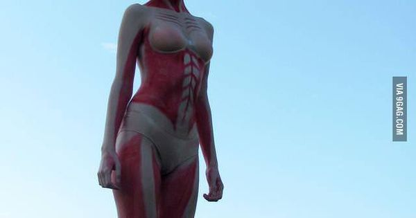 Amazing Attack on Titan cosplay. She looks spectacularly menacing as the Female