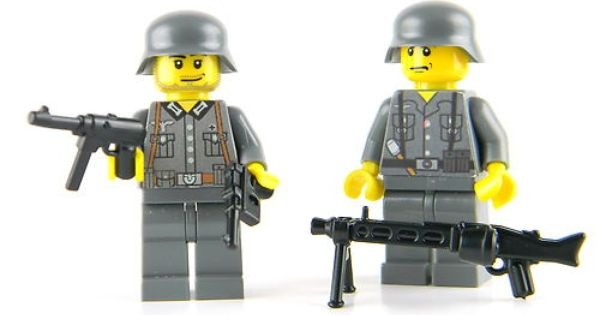 Full Body Printing NEW Lego Custom WW1 GERMAN OFFICER with Revolver