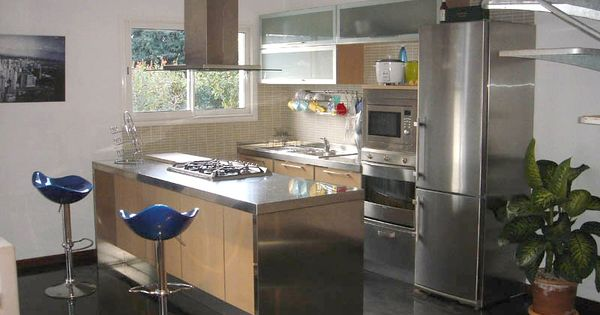 Plan de travail cuisine en inox home kitchen pinterest for D kitchen andheri east