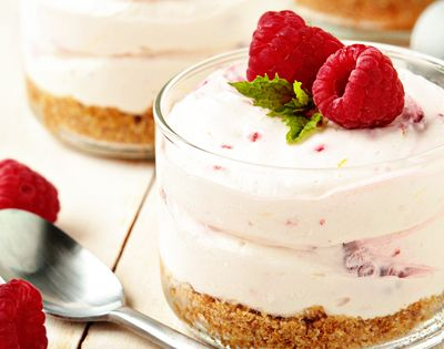 Another NO BAKE dessert - Raspberry Lemon Cheesecakes