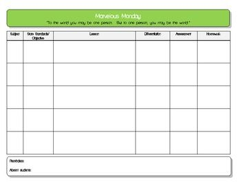 Daily Lesson Plan Template 5 Subject Pdf Lesson Plan Templates
