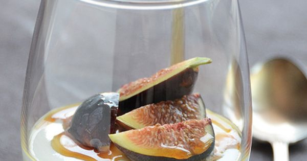 Yogurt Mousse with Honey and fresh Figs. | Food & Drink | Pinterest ...