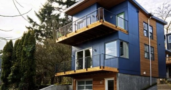 Alley house 2 a modular prefab home aiming for leed for Modular homes seattle
