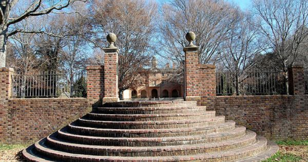Sunken Garden Steps William And Mary University Williamsburg