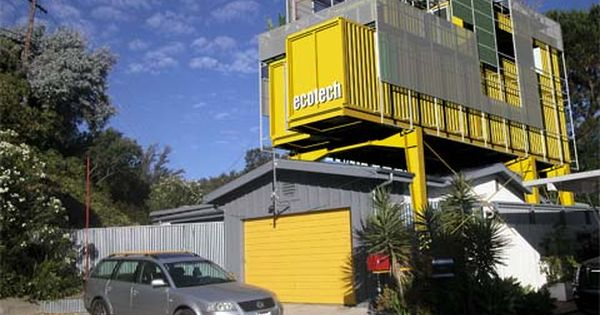 Shipping container add on a 1950 39 s bungalow in the hollywood hills of los angeles ca - Container homes in los angeles ...