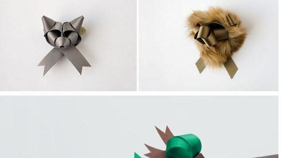 Animal bows - fancy gift wrapping