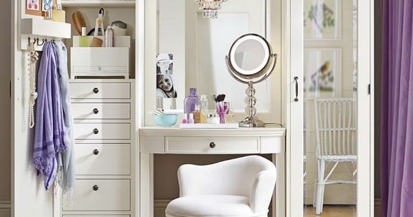Modular Furniture for Teen Girls' Rooms from Pottery Barn.